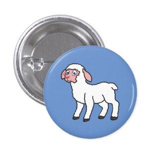 White Lamb Pinback Button