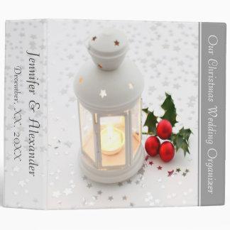 White Lantern Holly Christmas Wedding Organizer Binder