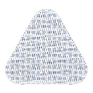 White Lattice on Alice Blue in English Garden Bluetooth Speaker
