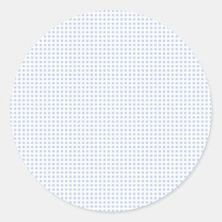 White Lattice on Alice Blue in English Garden Classic Round Sticker