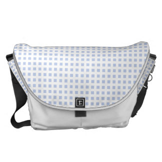White Lattice on Alice Blue in English Garden Courier Bag