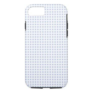 Beach Themed White Lattice on Alice Blue in English Garden iPhone 7 Case