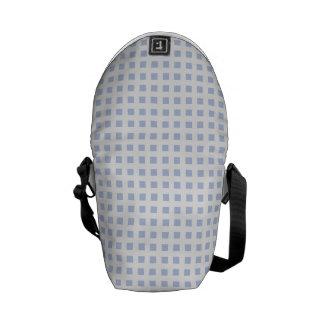 White Lattice on Alice Blue in English Garden Messenger Bag