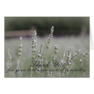 White Lavendar Sympathy Thank You Card
