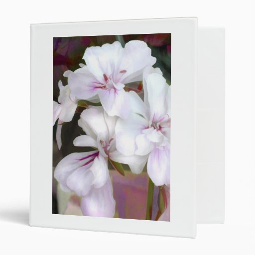 White & Lavender Geranium Binder