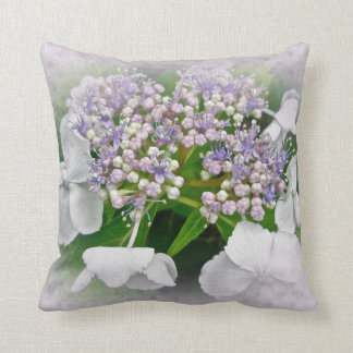 White Lavender Pink Hydrangea - Pillow
