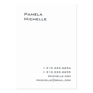 White LC Business Card Template