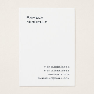 White LC Business Card