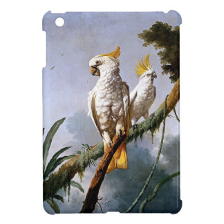 White Leadbeaters Parrots Tropical Birds painting Cover For The iPad Mini