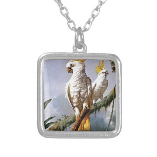 White Leadbeaters Parrots Tropical Birds painting Jewelry