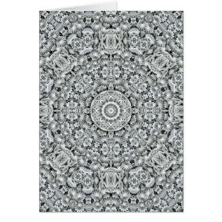 White Leaf Kaleidoscope  Custom Greeting Cards