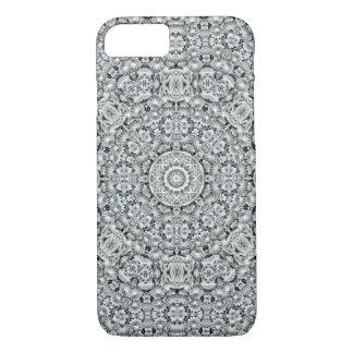 White Leaf Kaleidoscope iPhone Cases