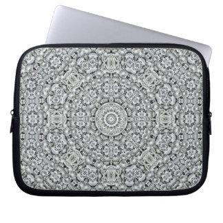 White Leaf Kaleidoscope    Neoprene Laptop Sleeves