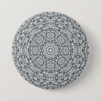 White Leaf Pattern Buttons, square or round Button