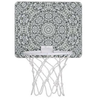 White Leaf Pattern  Mini Basketball Goal Mini Basketball Hoop