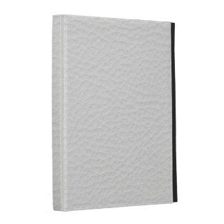 White leather iPad folio case