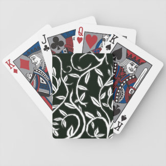 white leaves bicycle playing cards