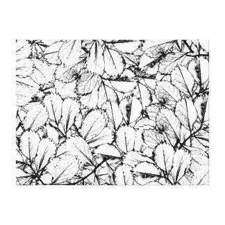 White Leaves Canvas Print