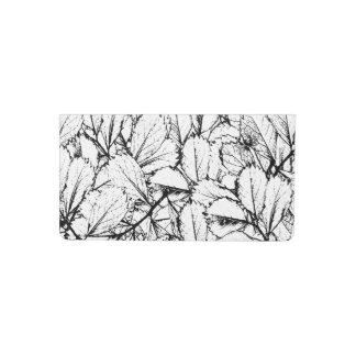 White Leaves Checkbook Cover