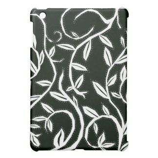 white leaves cover for the iPad mini