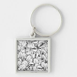 White Leaves Keychain