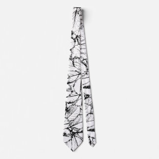 White Leaves Neck Tie