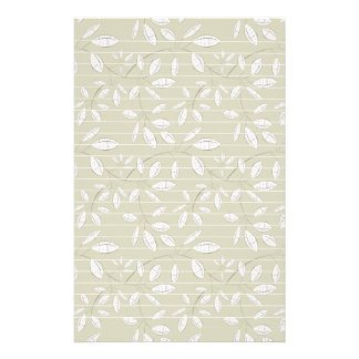 White Leaves on Neutral Stationery