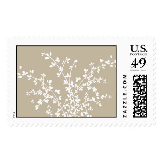 white leaves postage