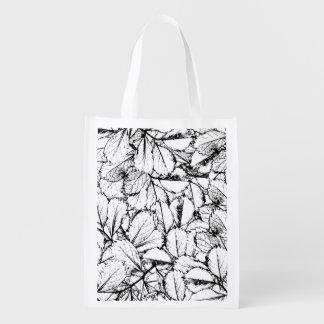 White Leaves Reusable Grocery Bag