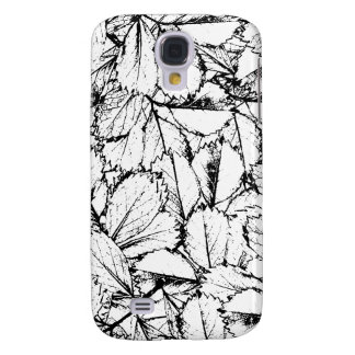 White Leaves Samsung Galaxy S4 Cover
