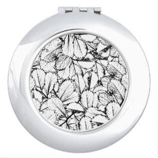 White Leaves Vanity Mirror