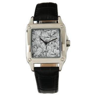 White Leaves Wrist Watch