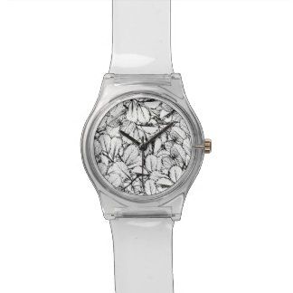White Leaves Wristwatch