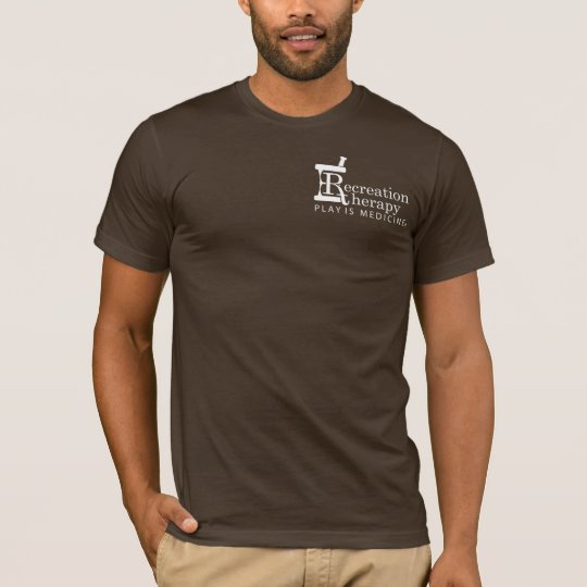White Left Chest Logo Recreation Therapy T-Shirt