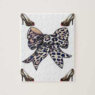 white leopard bow heels jigsaw puzzle everyone