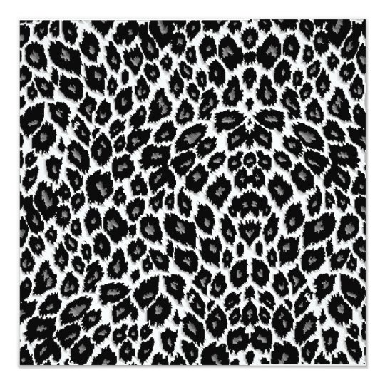 White Leopard Design Card