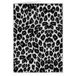 White Leopard Design Greeting Card