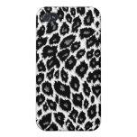 White Leopard Design iPhone 4 Case