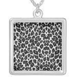 White Leopard Design Pendants