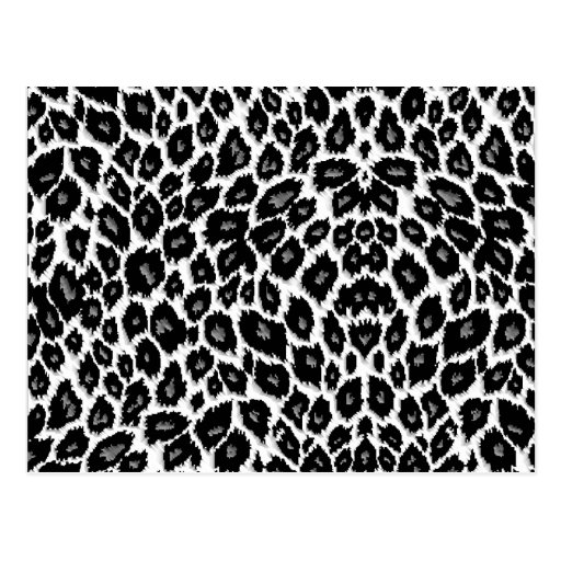 White Leopard Design Postcard