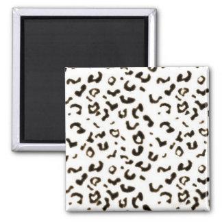 white leopard magnet