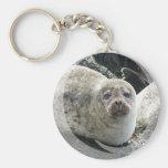 White Leopard Seal Keychain