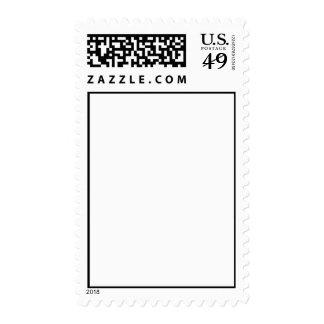 white-letter postage stamp