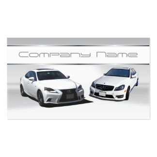 White Lexus and white Mercedes Benz Business Cards