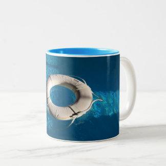 White Life Ring Two-Tone Coffee Mug