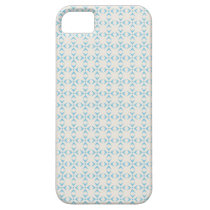 white/light blue pattern iPhone 5 case