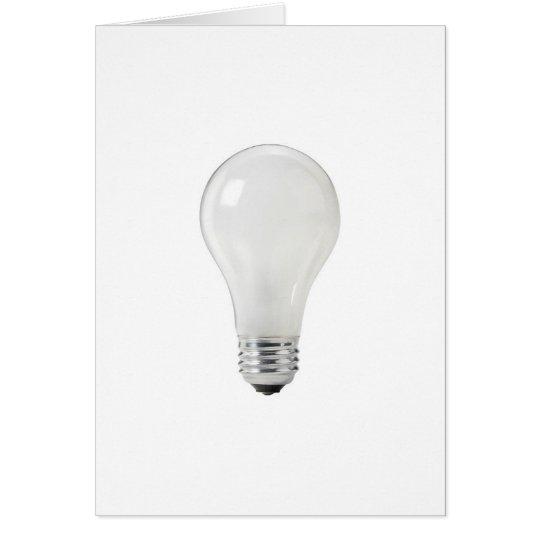 WHITE LIGHT BULB CARD