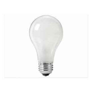 WHITE LIGHT BULB POSTCARD
