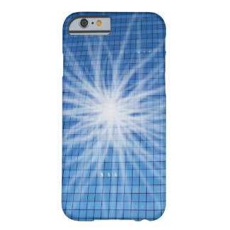 White Light Burst Blue Skyscraper Barely There iPhone 6 Case