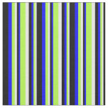[ Thumbnail: White, Light Green, Blue, and Black Colored Lines Fabric ]